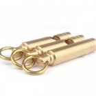 Outdoor Survival EDC Tool Hand-Made Pure Brass Whistle, Key Pendant