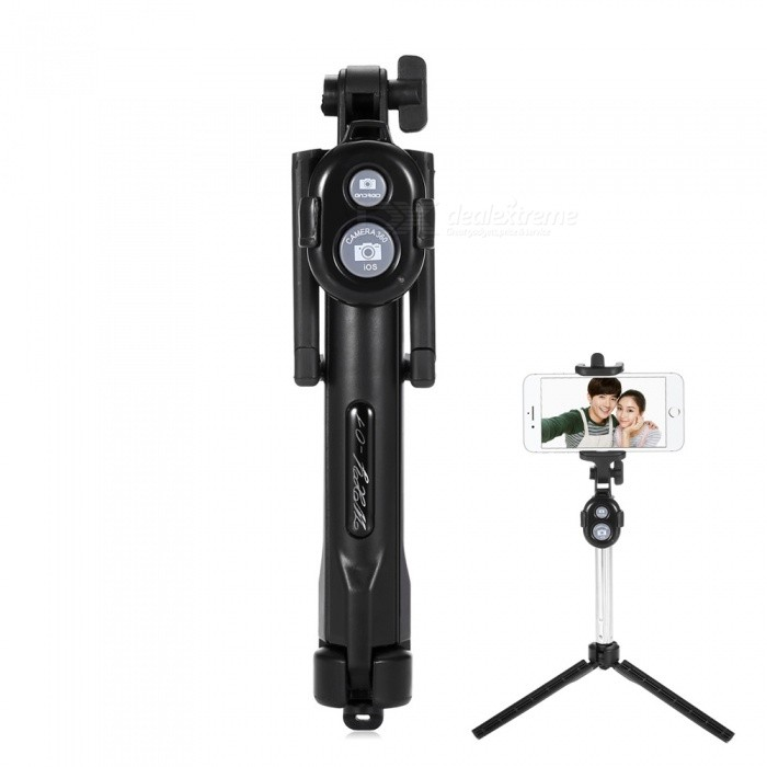 ST-13 Universal Mobile Bluetooth 3.0 Self-timer with Tripod - Black