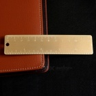 Brass Bookmark Ruler mit Double Scale in Cm Inch-golden