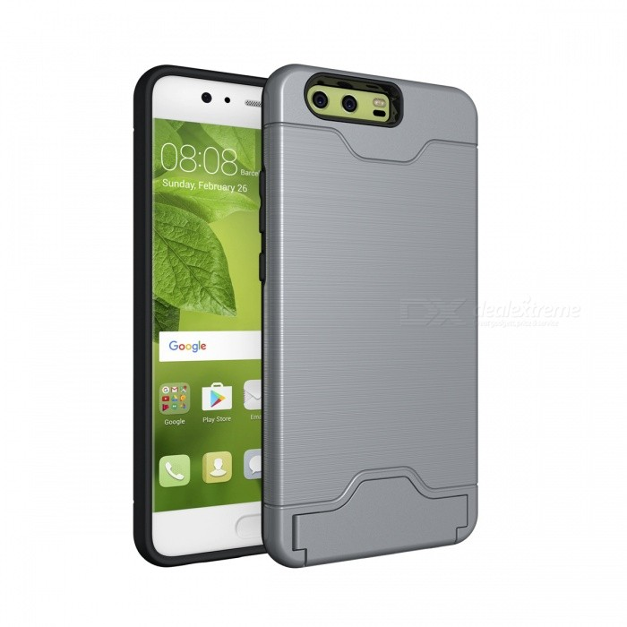 Protective Back Case with Card Slot for Huawei P10 - Grey