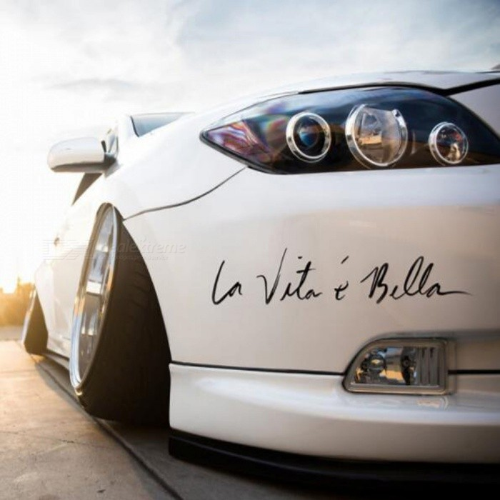 "90SMART ""La Vita e Bella"" Nuevo Style Car Styling Sticker"