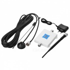 2G 3G 4G Cell Phone Signal Booster with 0.6inch LCD - White (EU Plug)