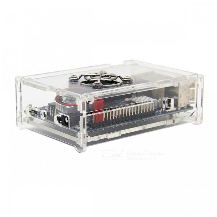 Geekworm Acrylic Case + Cooling Fan + 4PCS Heat Sink Kits