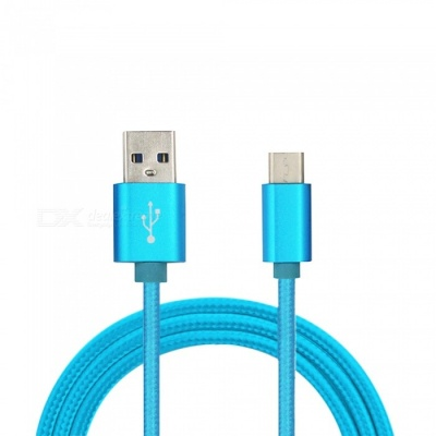 Universal Type-C to USB Charging Data Cable - Blue (1m)