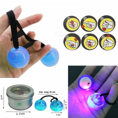 YWXLight LED Night Light Luminous YO YO Hand Finger Toy - Blue