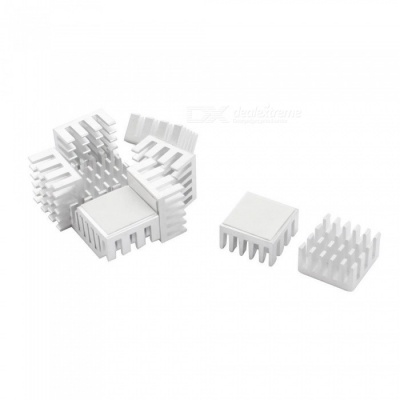 10Pcs 15mmx15mmx8mm Square Aluminum Heatsink Cooling Fin for Mosfet IC