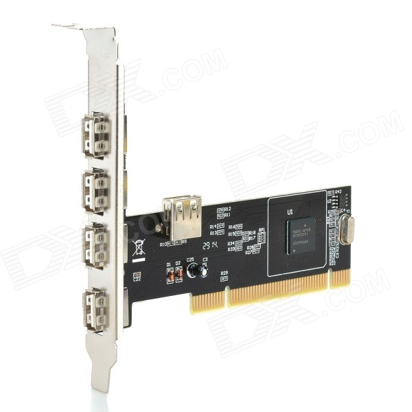 5-Port USB 2.0 PCI Expansion Card 5 port usb 2 0 pci expansion card