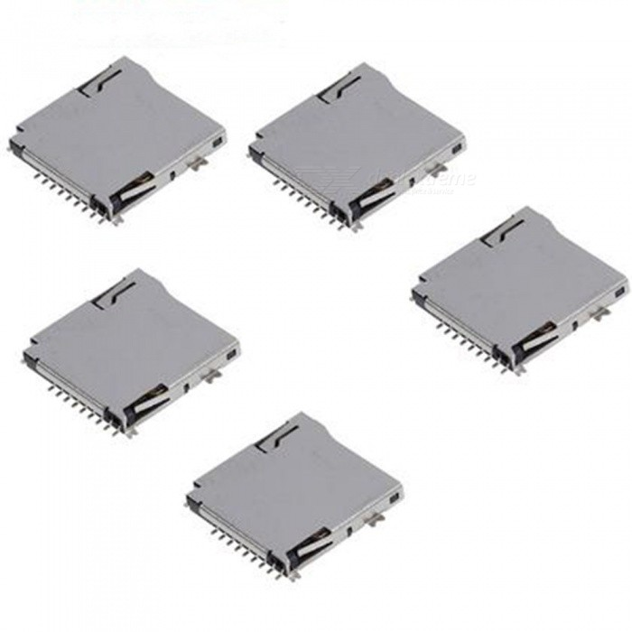 Push Type Micro SD Card Sockets for Cell Phone (5 PCS)