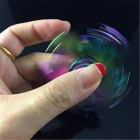 OJADE Five Leaves Shape Spinner Fidget Fingertip Gyro Toy - Colorful
