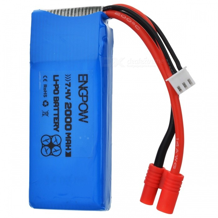 ENGPOW 7.4V 2000mAh 30C Lipo Battery for Syma X8C X8W X8GBatteries &amp; Chargers<br>Form  ColorSapphire BlueMaterialLi-polymer batteryQuantity1 setCompatible Models903472Battery Measured Capacity 2000 mAhNominal Capacity2000 mAhBattery TypeLi-polymer batteryVoltage7.4 VInput Voltage7.4 VOutput Voltage7.4 VPower AdapterUS PlugsPacking List1 x 7.4V 2000mAh 30C Lipo Battery<br>