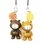 Bear Figure Colorful Flashing Call/Activity Indicator Cell Phone Strap - Random Style (1*CR927)