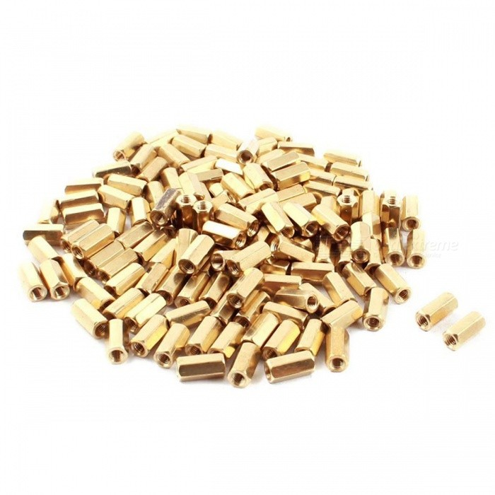 A140 773 Brass Hexagonal Double End Female Thread PCB Spacers (30 PCS)