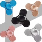 OJADE Hand Tri-Spinner Fidget Toy for ADD ADHD Kids Adults - Silver