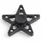 OJADE Five Pointed Star Fidget Hand Spinner Finger Toy - Svart