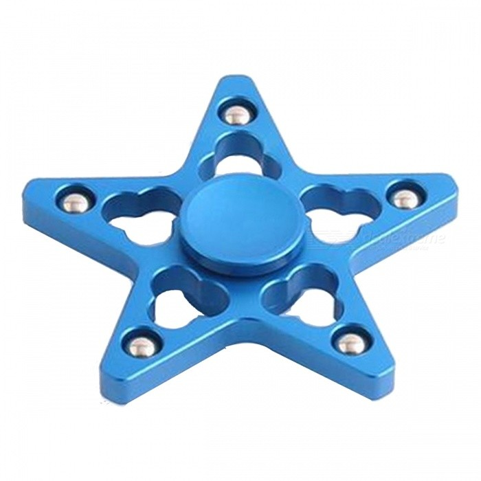 OJADE Five Pointed Star Fidget Toy Hand Spinner Finger Toy - Blå