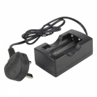 UltraFire 18650 Battery Dual-Charger - Black (UK Plug)