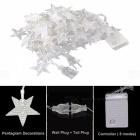 33ft 10m Star Forme Cold White Fairy String Lights avec 8 modes Flash