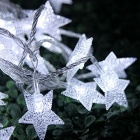 33ft 10m Star Shape Cold White Fairy String Lights with 8 Flash Modes