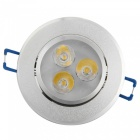YouOKLight 3W Warm White LED Downlight Ceiling Lamp, AC85-265V, 10 PCS