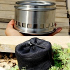SZFC Portable Collapsible Stainless Steel Outdoor Camping Wood Stove