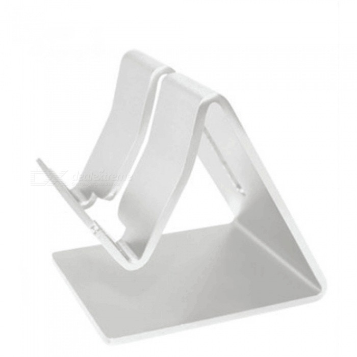Aluminum Alloy Desktop Mobile Phone Stand - SilverMounts and Stands<br>Form  ColorSilverMaterialAluminum alloyQuantity1 pieceCompatible SizeOthers,Use: 10 inches below the mobile phone and flat (thickness less than 11mm)Mount TypeDesktopMax. Load2000 gPacking List1 x Mobile phone holder<br>