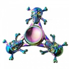 OJADE Skull Shaped Rainbow Hand Spinner Fidget Fingertip Gyro Toy