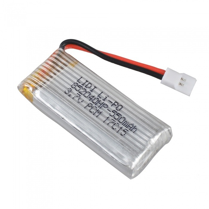 3.7V 20C 550mAh Battery for JXD 523 RC QuadcopterOther Accessories for R/C Toys<br>Form  ColorSilverModelJXD523MaterialAluminumQuantity1 DX.PCM.Model.AttributeModel.UnitCompatible ModelJXD 523Packing List1 x Battery<br>