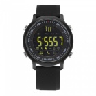 EX18 5ATM Waterproof Bluetooth V4.0 Smart Watch with Pedometer - Black