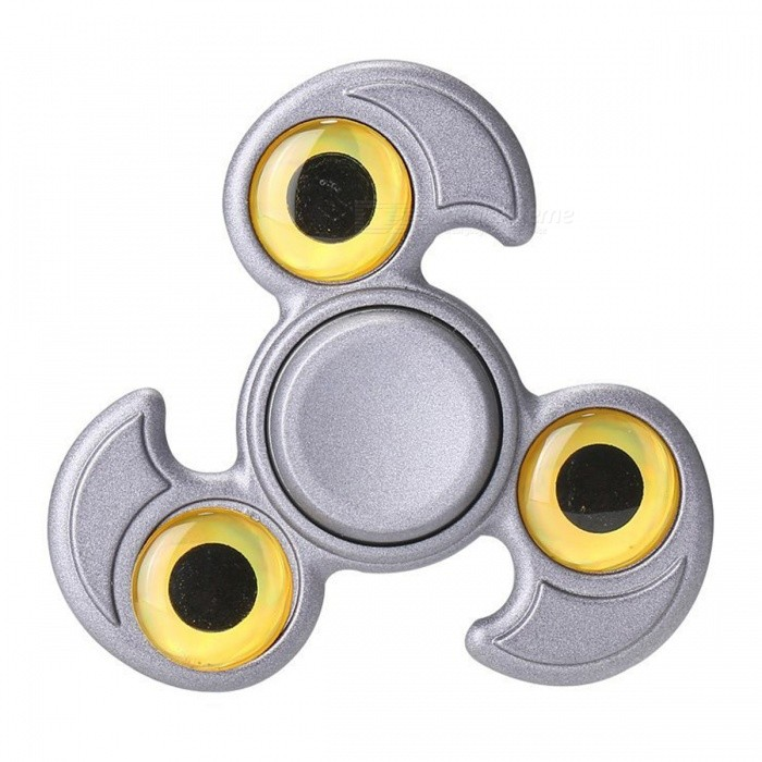 OJADE Eagle Eyes Style EDC Focus Finger Toy Fidget Spinner - Grey