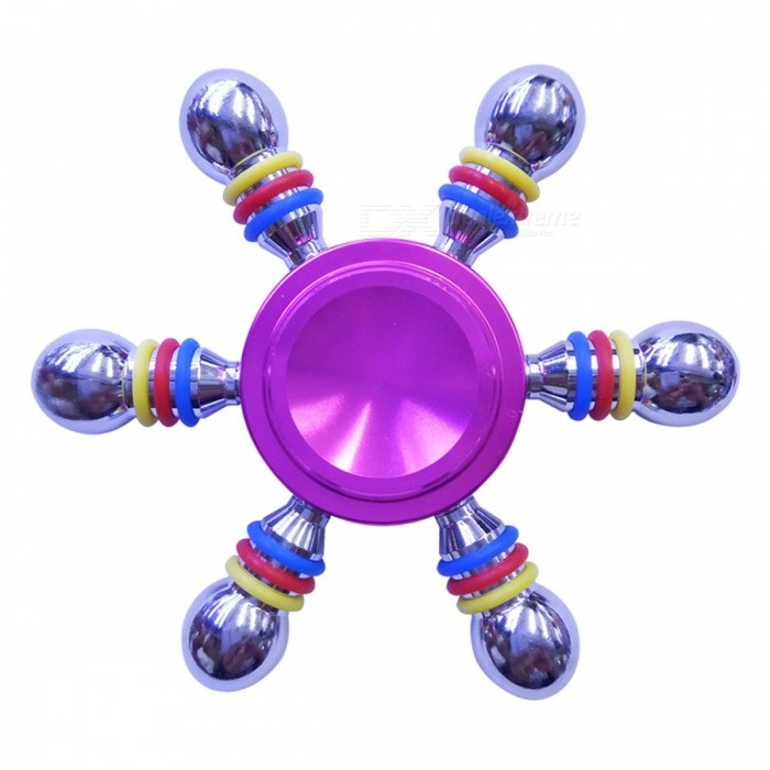 Dayspirit Six-Bead Finger Stress Relief Gyro Rotator Toy - Rosa