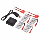 ENGPOW Four 3.7V 750mAh Lipo Batteries with Charger for Syma X5C