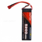ENGPOW 7.4V 5200mAh 25C Lipo Battery for RC Airplane, RC Helicopter