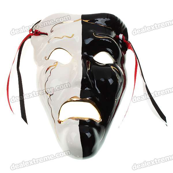 Italian Style Crying Face Ceramic Mask for Ornament