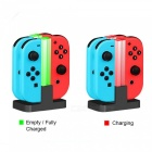 Kitbon 4-in-1 Colorful Light Charging Station Stand Dock for Joy-Con