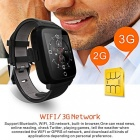 Bluetooth Smart Watch 1 Go RAM 8 Go ROM Quad Core Heart Rate - Noir