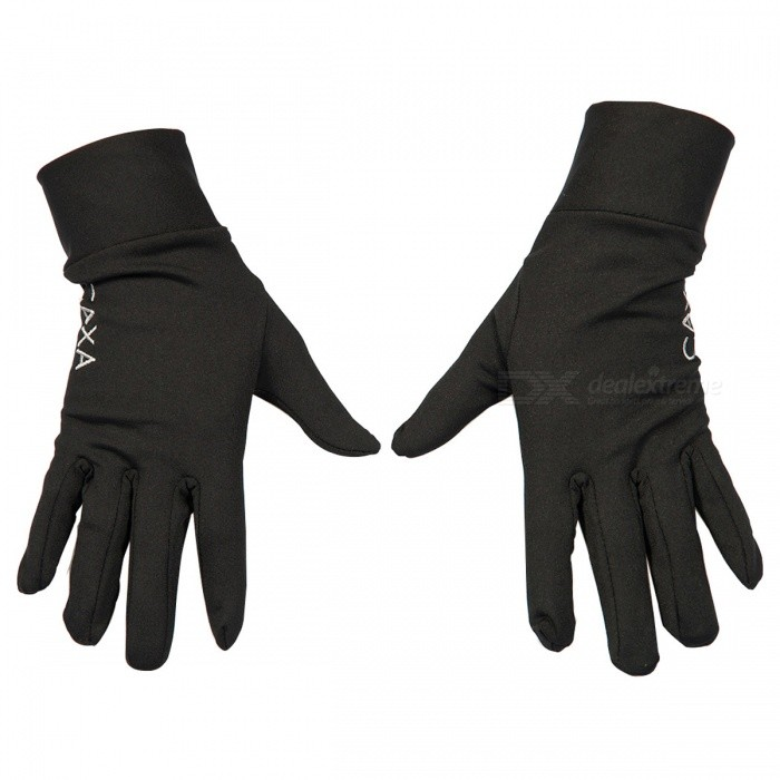 CAXA Outdoor Sports Windproof Climbing Full-Finger Gloves - Black (S)