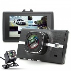 Dual Lens Car DVR 2MP Camera FHD 1080P Video Recorder Parking Monitor with TF Slot, Mini USB