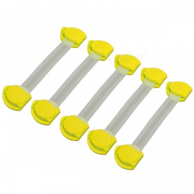 E-SMARTER Multifunctional Baby Safe Drawer Locks - Yellow (5 PCS)