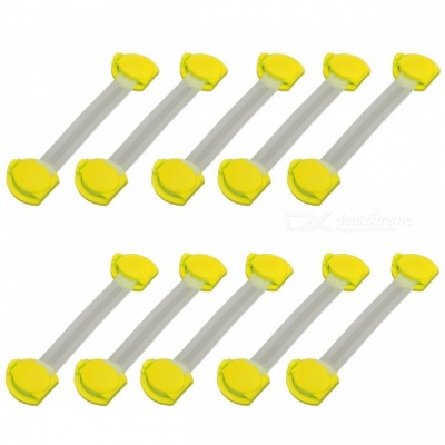 E-SMARTER Multifunctional Baby Safe Drawer Locks - Yellow (10 PCS)