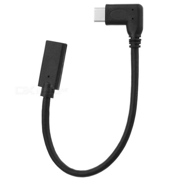 BSTUO USB3.1 Type-c Male to Female Extentiong Cable - Black (19.5cm)