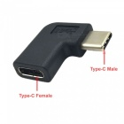 Cwxuan 10Gbps USB 3.1 Typ-C Man till Female Extension Adapter - Svart