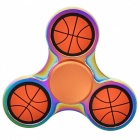E-SMARTER Basketball Pattern Stress Relief Toy EDC Spinner - Orange