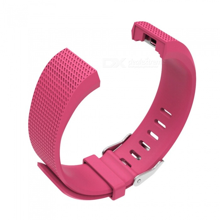 Replacement TPE TPU Wristband Set For Fitbit Charge 2 - Deep PinkWearable Device Accessories<br>Form  ColorDeep PinkQuantity1 setMaterialTPE + TPUPacking List1 x Wristband(128mm)1 x Wristband(106mm)<br>