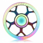 OJADE Wheel Shape Rainbow Hand Spinner Fingertip Toy - Colorful