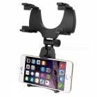 Universal Smartphone Car Vehicle Rear View Mirror Mount Holder Clip Clamp Bracket Cradle - Black