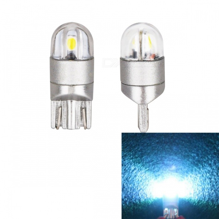 JRLED T10 2W Ice Blue Light 3030 2-SMD LED Indicator Lamps (2 PCS)Signal Lights<br>Color BINIce blueModelT10 3030 2 LEDQuantity2 DX.PCM.Model.AttributeModel.UnitMaterialAluminum + acrylicForm  ColorOthers,Gray + transparentEmitter TypeOthers,3030 SMDChip BrandOSRAMChip Type3030 SMDTotal Emitters2Power2WColor TemperatureN/A DX.PCM.Model.AttributeModel.UnitWavelength485 DX.PCM.Model.AttributeModel.UnitTheoretical Lumens200 DX.PCM.Model.AttributeModel.UnitActual Lumens180 DX.PCM.Model.AttributeModel.UnitRate VoltageDC 12VWaterproof FunctionNoConnector TypeT10Other FeaturesUltra small size, with 3030 SMD high-power lamp, high brightness, Aluminum Alloy heat, the color index above 80, DC12-24V universal, suitable for all kinds of cars, trucks, lamps, license plate lamp, reading lamp, warning lamp.ApplicationLicense plate light,Steering light,Indicator lamp,Reading lampCertificationCE ROHSPacking List2 x T10 LED Lamps<br>