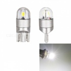 JRLED T10 2W Cool White Light 3030 2-SMD LED Indicator Lamps (2 PCS)