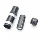 ZHISHUNJIA 9-LED Cold White 100lm Flashlights - Black (3 x AAA, 5PCS)