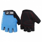 MOKE Bike Riding Anti-Slip Semi-Finger Gloves - Blue (XL, Pair)