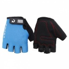 MOKE Bike Riding Anti-Slip Semi-Finger Gloves - Blue (XXL, Pair)